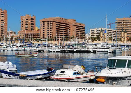 View of Fuengirola harbour.
