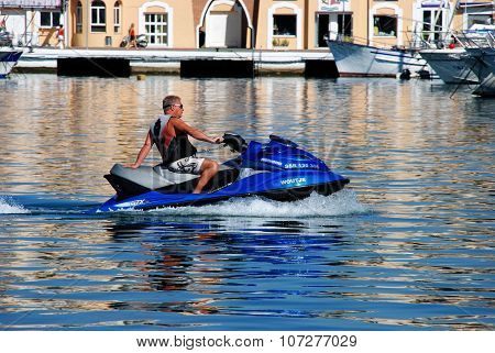 Man on a jetski, Fuengirola.