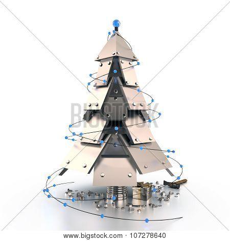 Abstract Christmas Tree, 3D