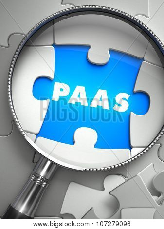 PaaS - Missing Puzzle Piece through Magnifier.