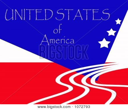 New Age American Flag Patriotic Sign 2