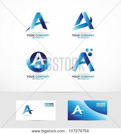 Letter A Logo Icon Set