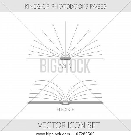 Monochrome Icons Types Of Photobooks Page