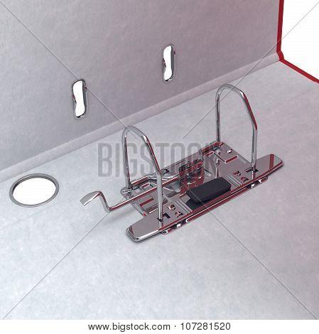 Mechanism, chromium, folder, close view