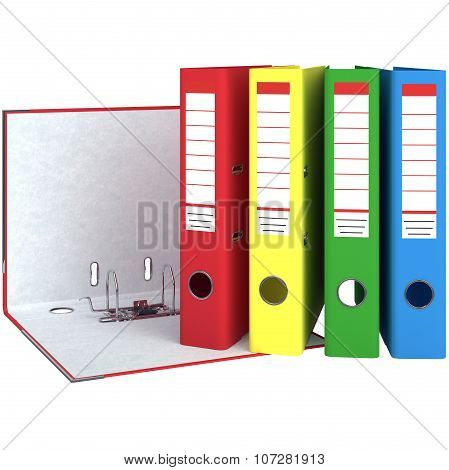 Set of colorful office folders