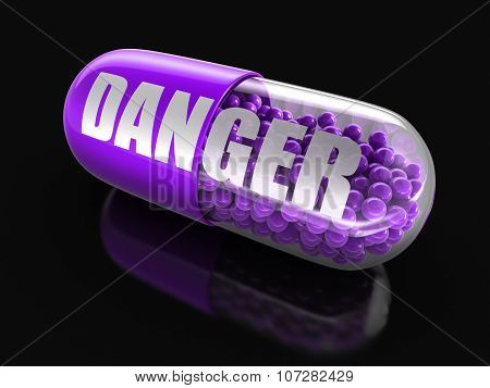 Pill Danger (clipping path included)