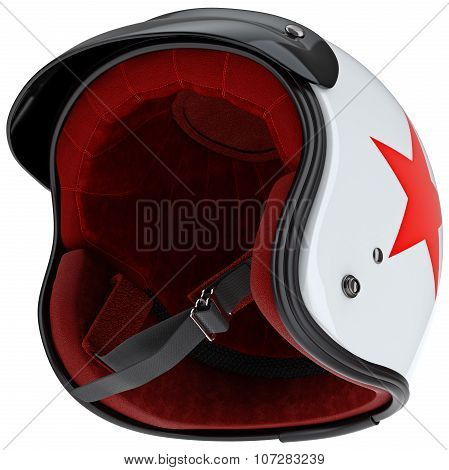 Internal filling protective motorcycle helmet with visor
