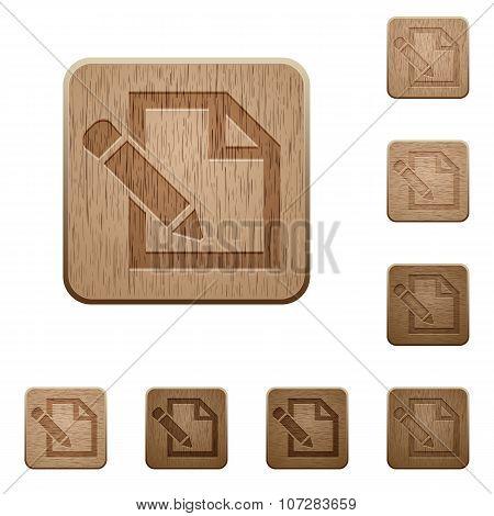 Edit Wooden Buttons