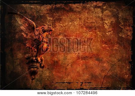 grunge background with chimera