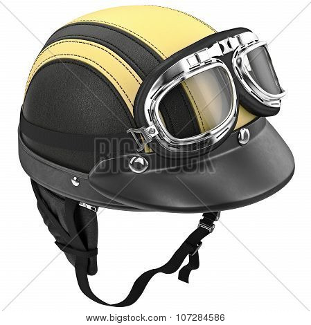 Motorcycle helmet with protective ear of points