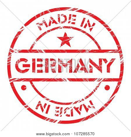 Made in Germany grunge rubber stamp