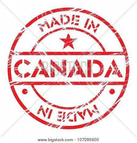 Made in Canada grunge rubber stamp