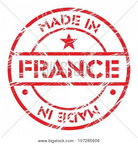 Made in France grunge rubber stamp