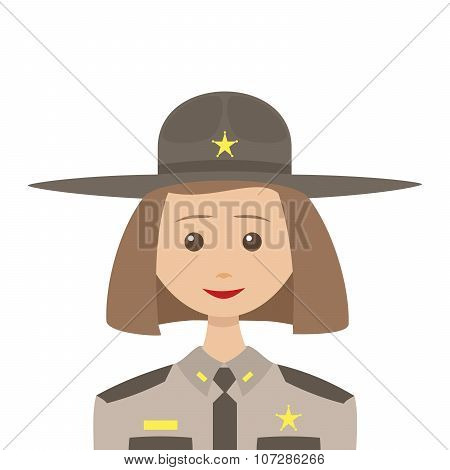 Female Sheriff With Blonde Hair