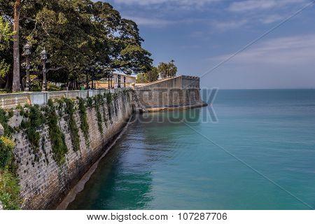 City walls of Cadiz, Spain