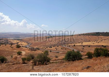 Beautiful Countryside Landscape, Galilee Sea, Tiberias, Israel