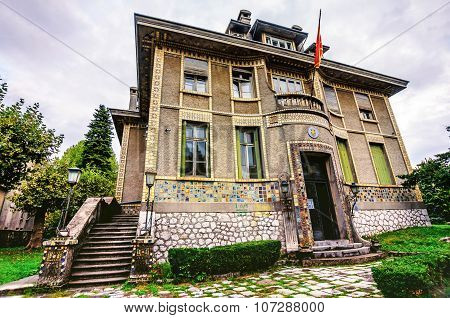 Historical Building In Cetinje, Montenegro, Witch Was The French Embassy Until 1916