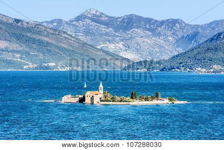 Monastery Our Lady Of Mercy On The Island In Montenegro