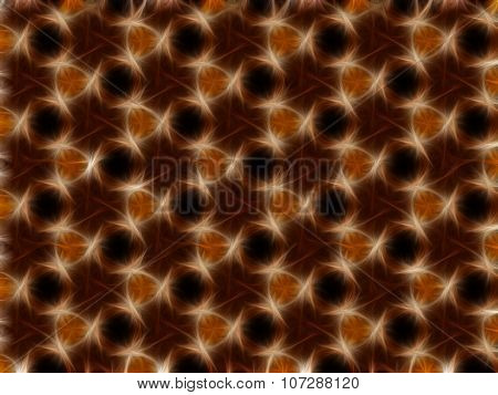 Abstract Glowing Ornament On A Dark Background