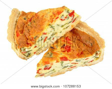 Roast Peppers And Cheese Quiche