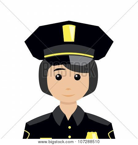 Male Policeman With Black Hair