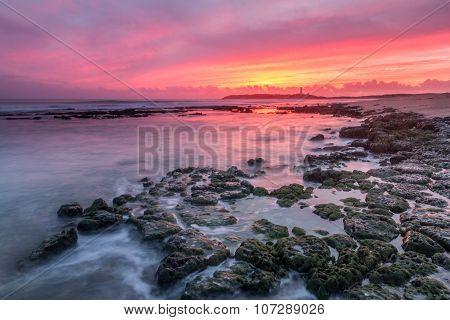 Last lights at Cape Trafalgar, Cadiz, Spain