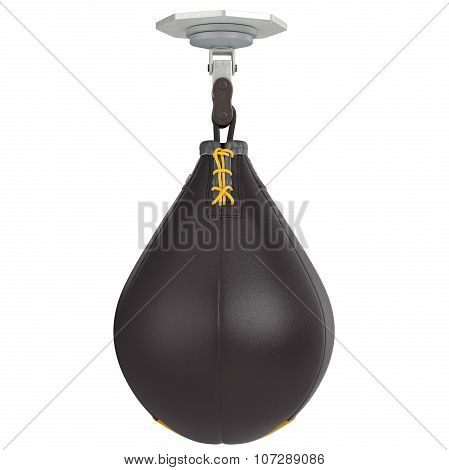 Leather speed punching bag