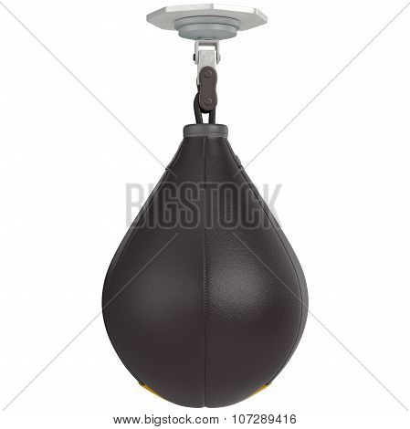 Speed punching bag, front view