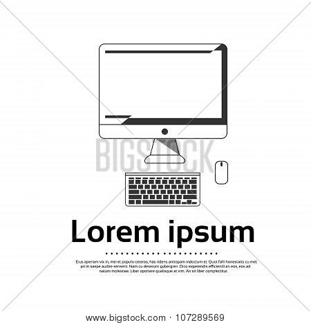 Desktop Logo Computer Workstation Icon Vector