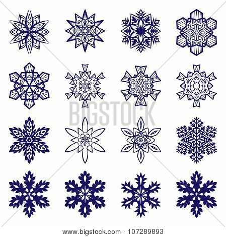 Intricate snowflakes collection