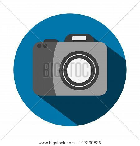 Vector Illustration Of A Flat Camera