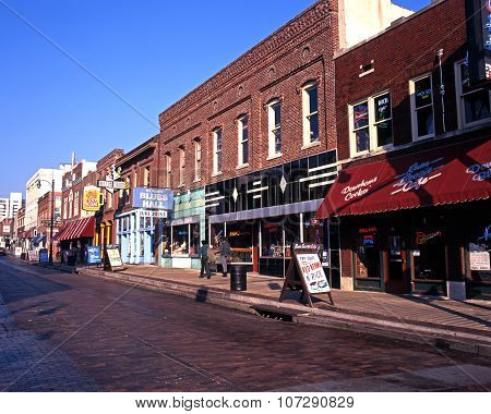 Beale Street shops, Memphis.