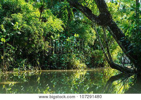 Boat over Marajo Canal in Belem do Para, Brazil