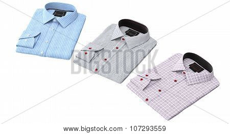 Men's classic striped and checkered shirt