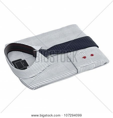 Classic men's striped shirt with ties