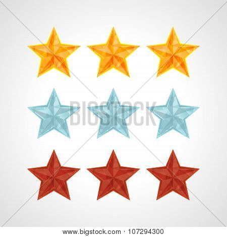Star Rating Template Vector