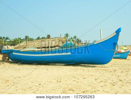 Fishing boat on the beach