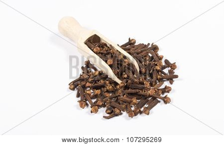 Cloves Isolated On White Background.
