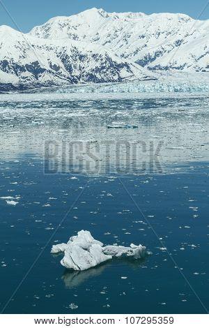 Hubbard Glacier In Yakutat Bay, Alaska.