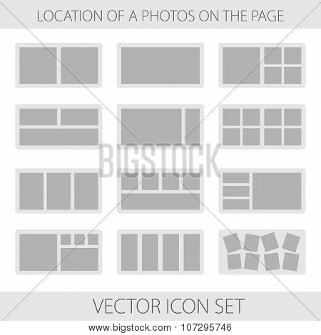 Icon Set Of Location A Photos In Photobook