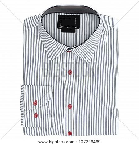 Classic men's shirt striped, top view