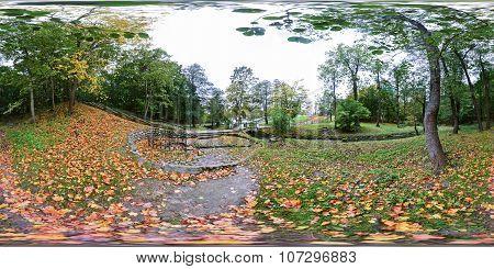 Spherical Panorama Of The Central Park In Kaliningrad (konigsberg)