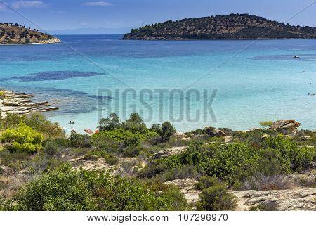 Lagonisi Beach, Chalkidiki, Sithonia, Central Macedonia