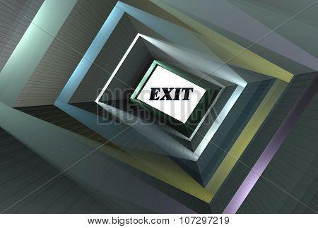 abstract a long corridor 3d