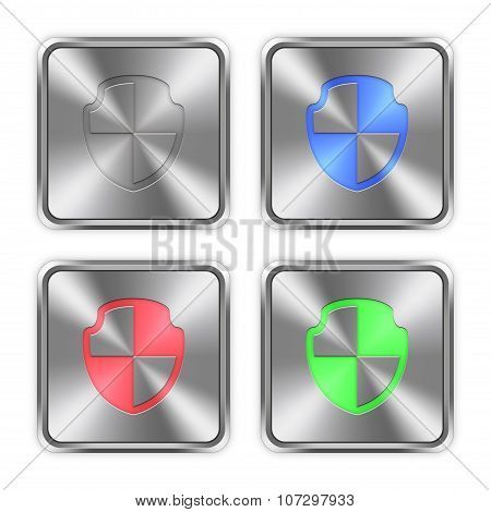 Color Shield Steel Buttons