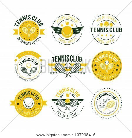 Tennis Sporting Vintage Emblems
