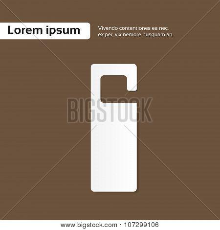 Blank White Door Handle Empty Sign Copy Space