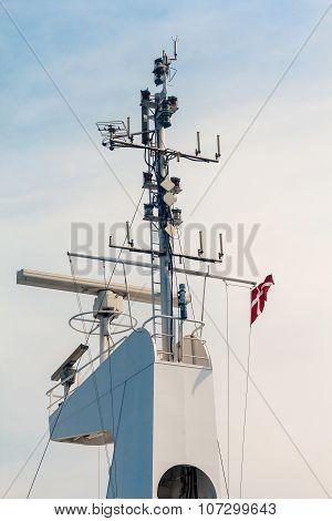 Mast Of ship With Rada