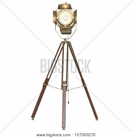 Studio floodlight wooden tripod