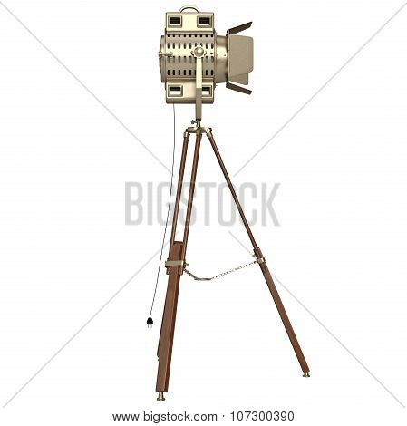 Lamp with wooden tripod